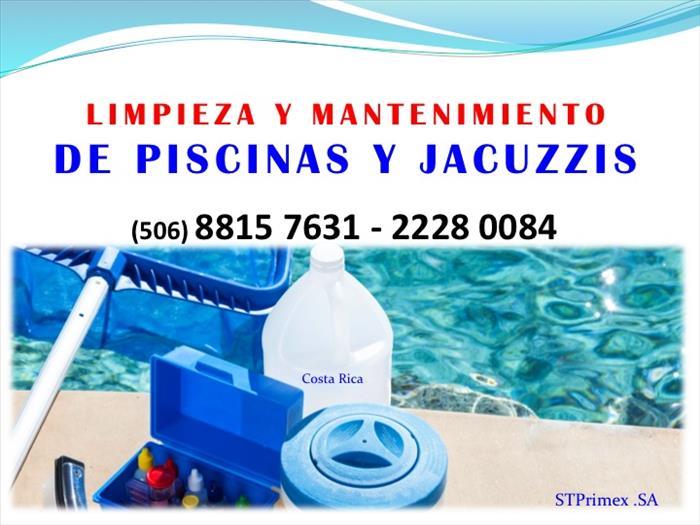 Mantenimiento y limpieza de piscinas y jacuzzis san jose for Limpieza de piscinas