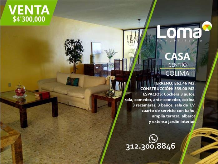 RESIDENCIA EN VENTA | $4'300,000 | COLIMA