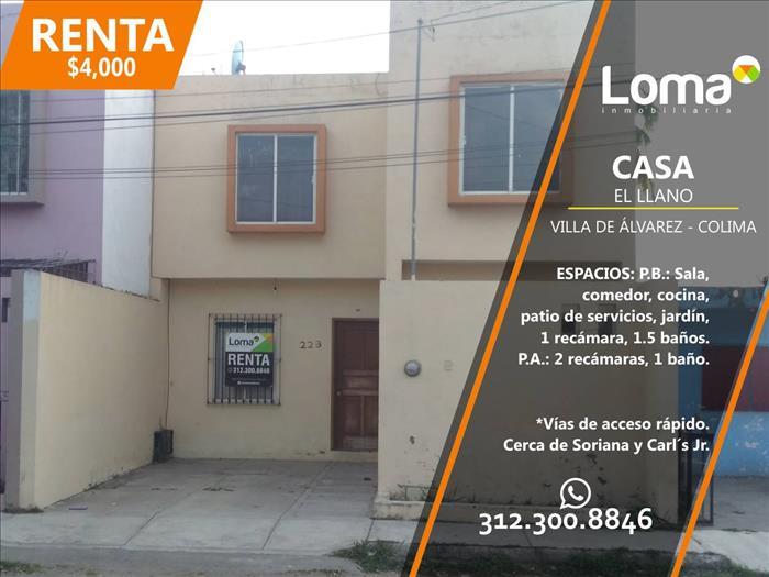 ¡CASA en RENTA en Villa de Álvarez, Colima!