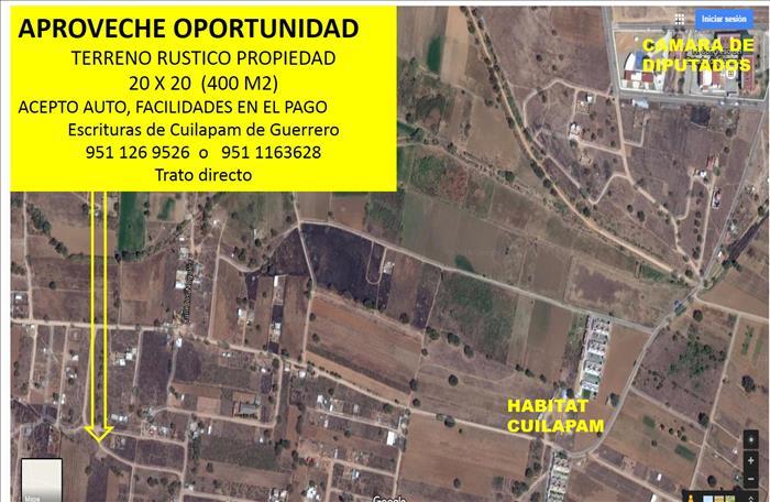 Terreno en venta en Cuilapam
