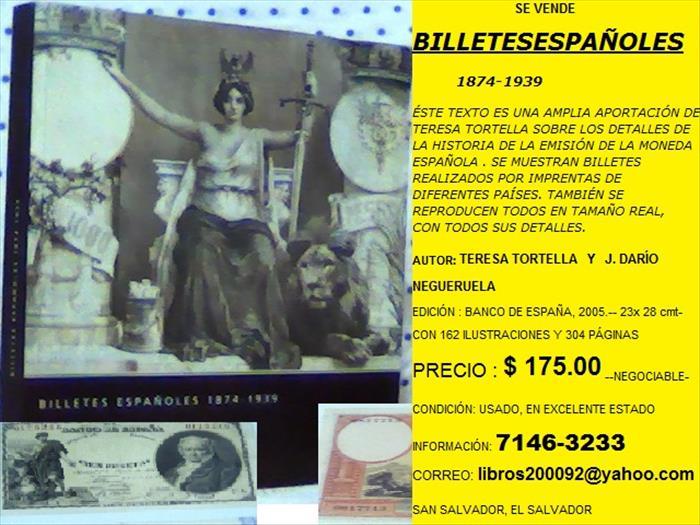 BILLETESESPAÑOLES 1874-1939